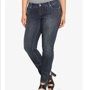Torrid Premium SKINNY Stretch Dark Wash Jean